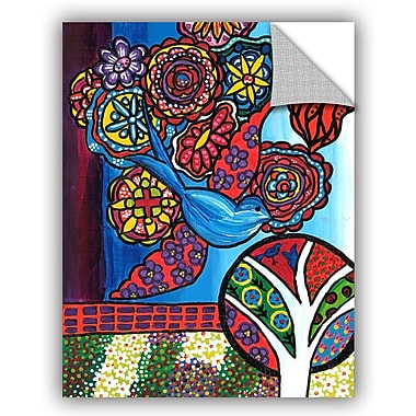 ArtWall 'Bird' by Debra Purcell Painting Print on Canvas; 24'' H x 18'' W x 0.1'' D