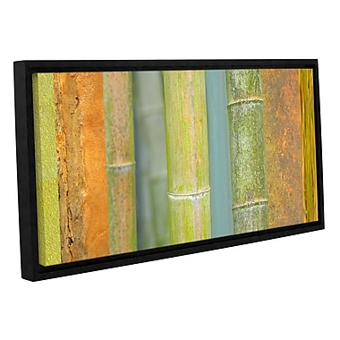 ArtWall 'Bamboo' by Cora Niele Framed Graphic Art on Wrapped Canvas; 24'' H x 48'' W