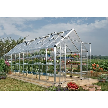 Palram Snap & Grow 8 Ft. W x 20 Ft. D Greenhouse; Silver