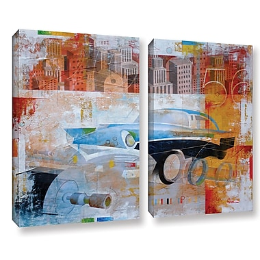 ArtWall '56' by Greg Simanson 2 Piece Graphic Art on Wrapped Canvas Set; 18'' H x 24'' W x 2'' D