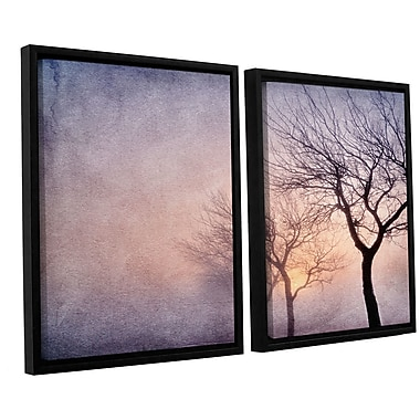 ArtWall 'Early Morning' by Cora Niele 2 Piece Framed Photographic Print on Wrapped Canvas Set