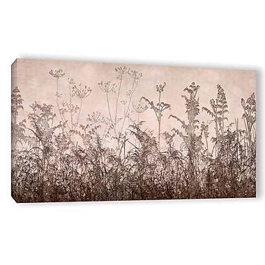 ArtWall 'Wildflowers Brown' by Cora Niele Painting Print on Wrapped Canvas; 18'' H x 36'' W x 2'' D