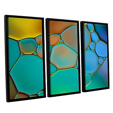 ArtWall 'Connected II' by Cora Niele 3 Piece Framed Graphic Art Set; 24'' H x 36'' W x 2'' D