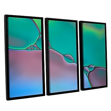 ArtWall 'Connected I' by Cora Niele 3 Piece Framed Graphic Art Set; 36'' H x 54'' W x 2'' D