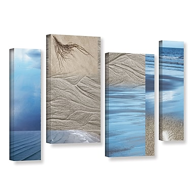 ArtWall 'Sand Sea' by Cora Niele 4 Piece Graphic Art on Wrapped Canvas Set; 24'' H x 36'' W x 2'' D