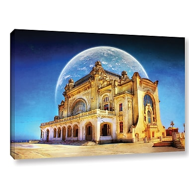 ArtWall 'Astral Casino' by Dragos Dumitrascu Graphic Art on Wrapped Canvas; 12'' H x 18'' W