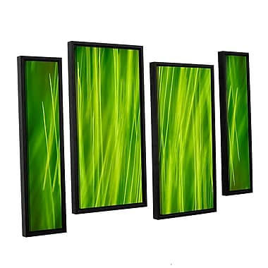 ArtWall 'Hordeum' by Cora Niele 4 Piece Framed Graphic Art on Canvas Set; 24'' H x 36'' W x 2'' D