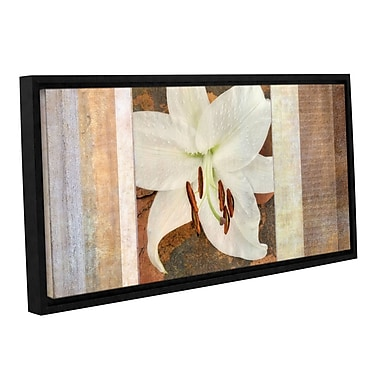 ArtWall I'vory' by Cora Niele Framed Graphic Art on Wrapped Canvas; 18'' H x 36'' W