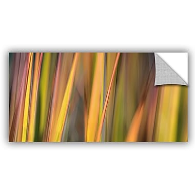 ArtWall 'Vivid Green' by Cora Niele Graphic Art on Canvas; 24'' H x 48'' W x 0.1'' D