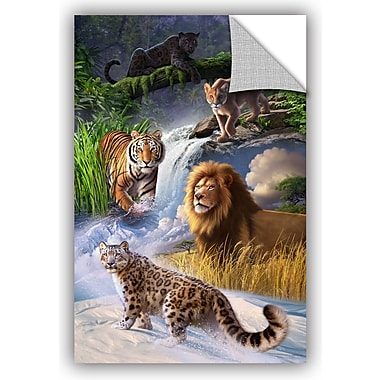 ArtWall 'Big Cats' by Jerry Lofaro Graphic Art; 24'' H x 16'' W x 0.1'' D