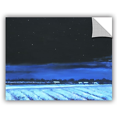 ArtWall 'Snowy Nights' by Gene Foust Painting Print on Canvas; 36'' H x 48'' W x 0.1'' D