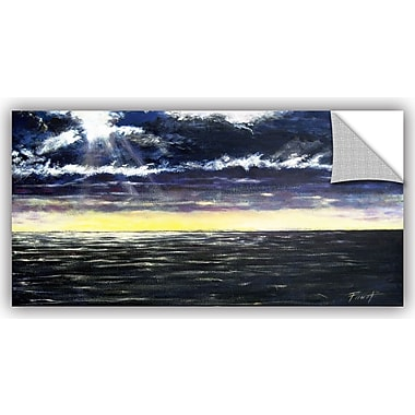 ArtWall 'Ravage Sea' by Gene Foust Painting Print on Canvas; 12'' H x 24'' W x 0.1'' D