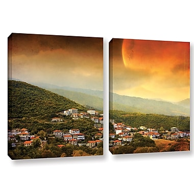 ArtWall 'Dawn' by Dragos Dumitrascu 2 Piece Photographic Print on Wrapped Canvas Set