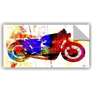 ArtWall 'Moto III' by Greg Simanson Painting Print; 12'' H x 24'' W x 0.1'' D