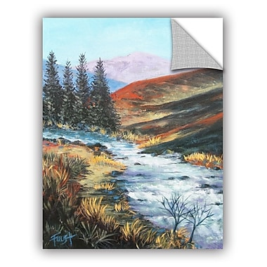 ArtWall 'Rolling Rapids' by Gene Foust Painting Print on Canvas; 18'' H x 14'' W x 0.1'' D