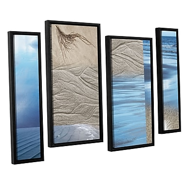 ArtWall 'Sand Sea' by Cora Niele 4 Piece Framed Graphic Art Set; 36'' H x 54'' W x 2'' D