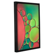ArtWall 'Green' by Cora Niele Framed Graphic Art on Wrapped Canvas; 36'' H x 24'' W