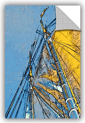 ArtWall 'Sails At Sea' by Linda Parker Graphic Art; 36'' H x 24'' W x 0.1'' D