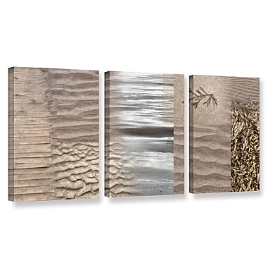 ArtWall 'Wind' by Cora Niele 3 Piece Graphic Art on Wrapped Canvas Set; 24'' H x 48'' W x 2'' D