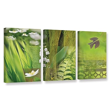 ArtWall 'Spring' by Cora Niele 3 Piece Graphic Art on Wrapped Canvas Set; 18'' H x 36'' W x 2'' D