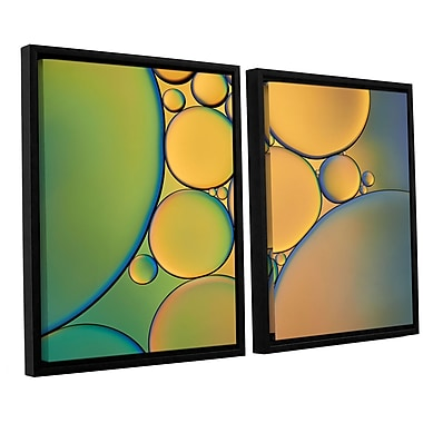 ArtWall 'Orange Green' by Cora Niele 2 Piece Framed Graphic Art Set; 32'' H x 48'' W x 2'' D