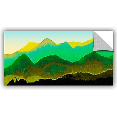 ArtWall 'Pyrenees In Spring' by Linda Parker Painting Print; 24'' H x 48'' W x 0.1'' D