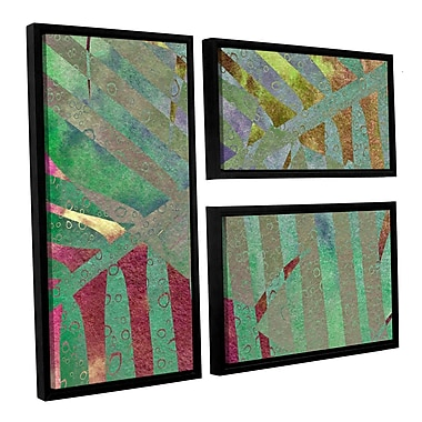 ArtWall 'Leaf Shades II' by Cora Niele 3 Piece Framed Graphic Art on Canvas Set