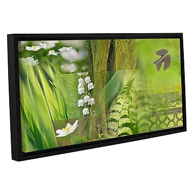 ArtWall 'Spring' by Cora Niele Framed Graphic Art on Wrapped Canvas; 18'' H x 36'' W