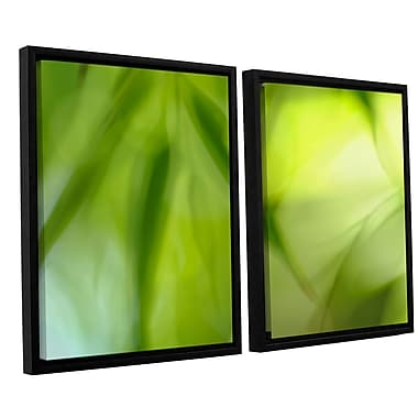 ArtWall 'Zen' by Cora Niele 2 Piece Framed Graphic Art on Canvas Set; 32'' H x 48'' W x 2'' D