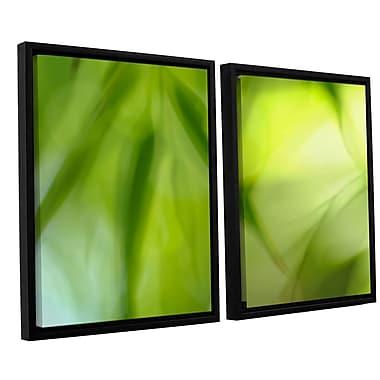 ArtWall 'Zen' by Cora Niele 2 Piece Framed Graphic Art on Canvas Set; 24'' H x 36'' W x 2'' D