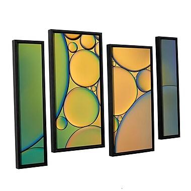 ArtWall 'Orange Green' by Cora Niele 4 Piece Graphic Art Set; 24'' H x 36'' W x 2'' D
