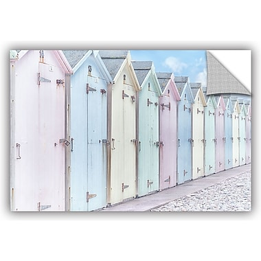 ArtWall 'Sea Side Beach Cabins I' by Cora Niele Graphic Art; 24'' H x 36'' W x 0.1'' D