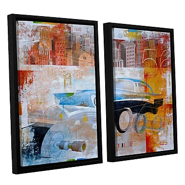 ArtWall '56' by Greg Simanson 2 Piece Framed Graphic Art on Wrapped Canvas Set