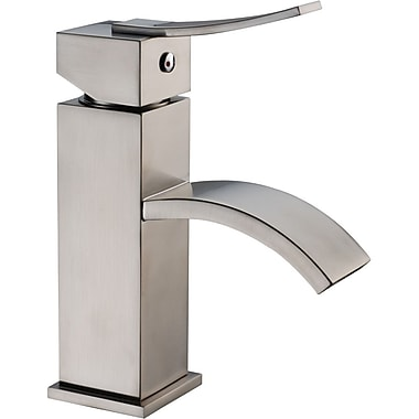 Dawn USA Single Handle Deck Mounted Faucet; Brushed Nickel