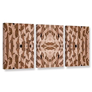 ArtWall 'Graphic' by Cora Niele 3 Piece Graphic Art on Wrapped Canvas Set; 18'' H x 36'' W x 2'' D