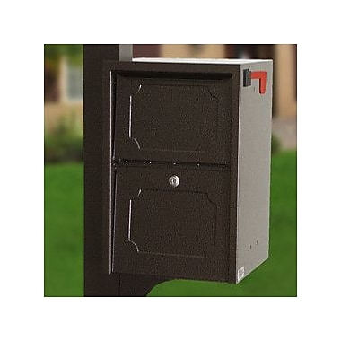 dVault Locking Post Mounted Mailbox; Copper Vein