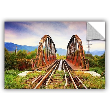 ArtWall 'Iron Bridge' by Dragos Dumitrascu Photographic Print on Canvas; 12'' H x 18'' W x 0.1'' D