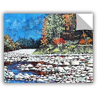 ArtWall 'Pebble Creek' by Gene Foust Painting Print on Canvas; 18'' H x 24'' W x 0.1'' D