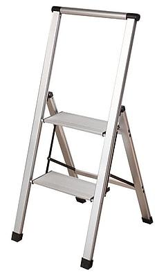 Xtend+Climb Slimline Light 2-Step Aluminum Light Step Stool w/ 225 lb. Load Capacity