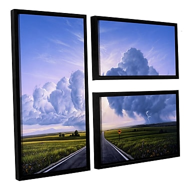 ArtWall 'Buffalo Crossing' by Jerry Lofaro 3 Piece Framed Graphic Art on Wrapped Canvas Set