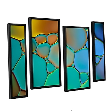 ArtWall 'Connected II' by Cora Niele 4 Piece Framed Graphic Art Set; 24'' H x 36'' W x 2'' D