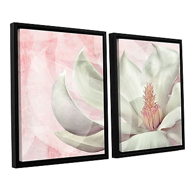 ArtWall 'Focustrack' by Cora Niele 2 Piece Framed Graphic Art on Canvas Set; 32'' H x 48'' W x 2'' D