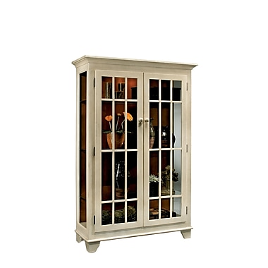 Philip Reinisch Co. ColorTime Monterey Lighted Curio Cabinet; Sand Shell White