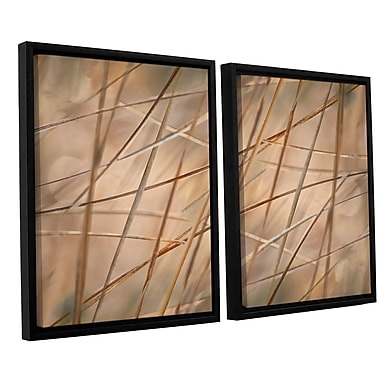 ArtWall 'Deschampsia' by Cora Niele 2 Piece Framed Photographic Print on Wrapped Canvas Set