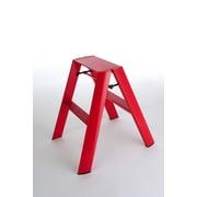 Lucano 2-Step Aluminum Step Stool w/ 225 lb. Load Capacity; Red