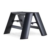 Lucano 1-Step Aluminum Step Stool; Black
