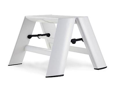 Lucano 1-Step Aluminum Step Stool; White