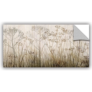 ArtWall 'Wildflowers Ivory' by Cora Niele Graphic Art on Canvas; 18'' H x 36'' W x 0.1'' D