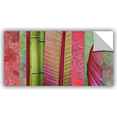 ArtWall 'Red Green' by Cora Niele Graphic Art on Canvas; 18'' H x 36'' W x 0.1'' D