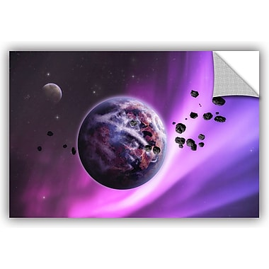 ArtWall 'Deep Purple Space' by Dragos Dumitrascu Photographic Print; 32'' H x 48'' W x 0.1'' D